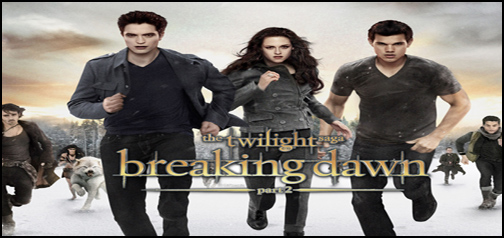 Breaking Dawn Part 2. Edward, Bella and Jacob Google Homepage