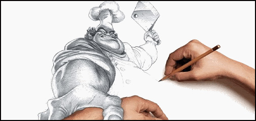 Animated Person Drawing Butcher