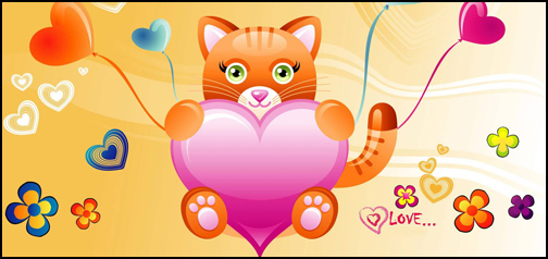 Cute Love Kitten Google Homepage