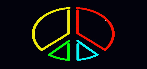Animated Neon Peace Sign