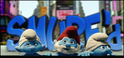 The Smurfs Google Homepage