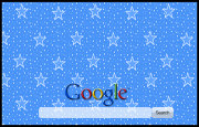 Animated Blue Sparkly Stars  Google Homepage