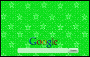 Animated Green Sparkly Stars  Google Homepage