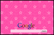 Animated Pink Sparkly Stars  Google Homepage
