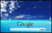 Blue Paradise Google Homepage