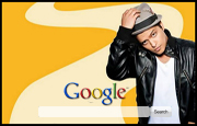 Bruno Mars Google Homepage