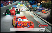 Lightning McQueen from Cars 2 Google Homepage