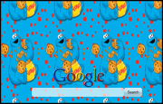 Animated Cookie Monster Google Homepage