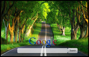 Country Road Google Homepage