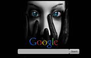 Dark Gothic Girl Google Homepage