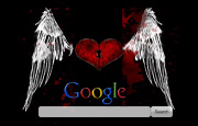 Emo Winged Heart Google Homepage