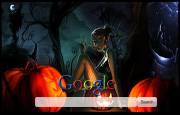 Halloween Girl Google Homepage