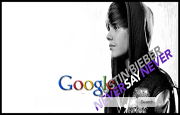 Justin Bieber - Never Say Never Google Homepage