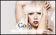 Sexy Lady Gaga Google Homepage