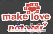 Animated Make Love Not War Google Homepage