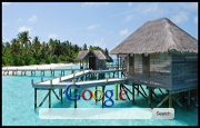Maldives Hut Google Homepage