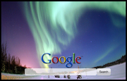 Northern Lights Google Homepage