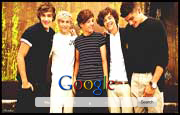 One Direction Google Homepage