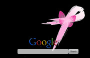 Pink Ribbon With Butterfly Google Homepage