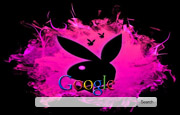 Black and Pink Playboy Bunny logo.