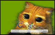 Puss In Boots Google Homepage