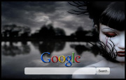 Sad Emo Girl Google Homepage