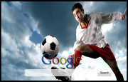 Man Kicking Soccer Ball Google Homepage