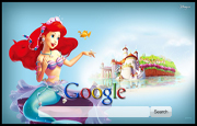 The Little Mermaid Google Homepage