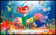 The Little Mermaid - Ariel and Friends Google Homepage